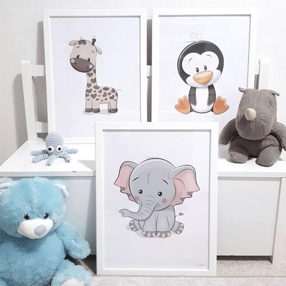 Barnposters Elefant