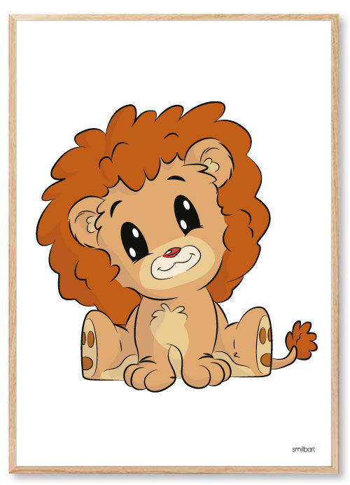 Barnposter-Barntavlor-Lejon