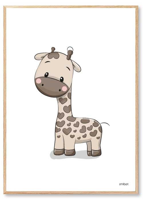 Barnposter Giraff Barntavlor