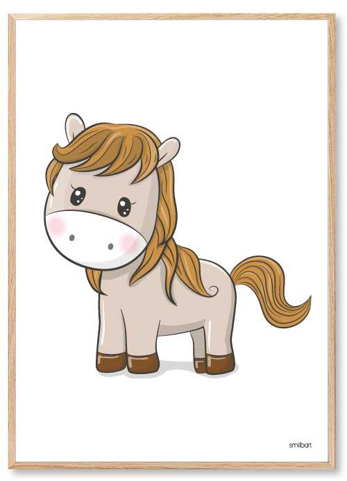 Barnposters Häst Barntavlor