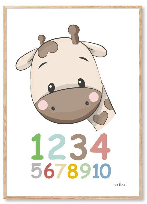 Barnposters Siffror Barntavlor