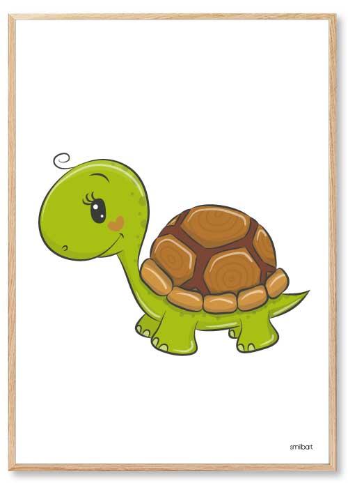 Barnposters Sköldpadda Barntavlor
