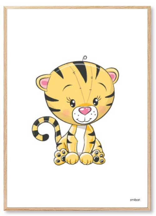 Barnposters Tiger Barntavlor