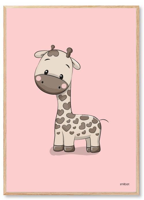 Giraff Barnposters